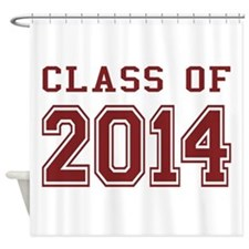 Class of 2014 (Red) Shower Curtain