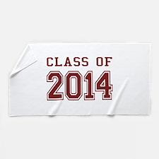 Class of 2014 (Red) Beach Towel