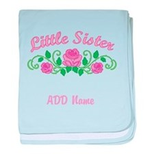 Personalized Sisters baby blanket