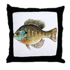 Bluegill Bream Fishing Throw Pillow