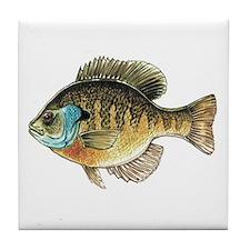Bluegill Bream Fishing Tile Coaster