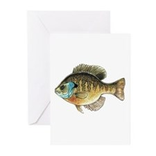 Bluegill Bream Fishing Greeting Cards (Package of