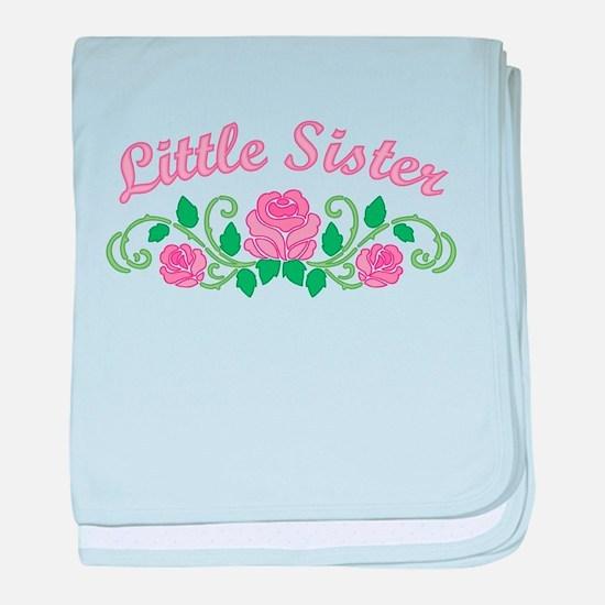 Little Sister Roses baby blanket
