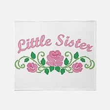 Little Sister Roses Throw Blanket