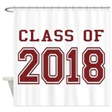 Class of 2018 (Red) Shower Curtain