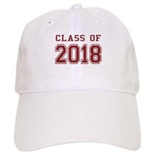 Class of 2018 (Red) Baseball Cap