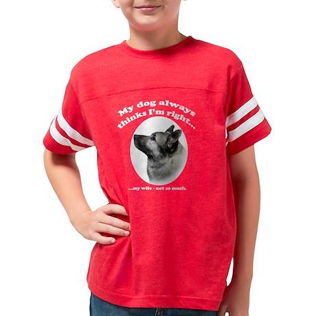 ElkhoundVsWifeDarkShirt Youth Football Shirt