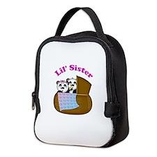 Little Sister Panda Neoprene Lunch Bag