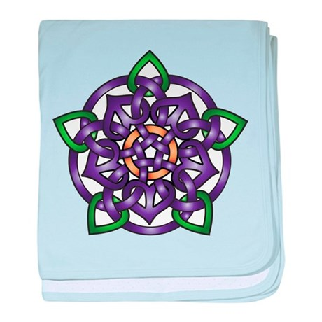 Purple Celtic Rose baby blanket
