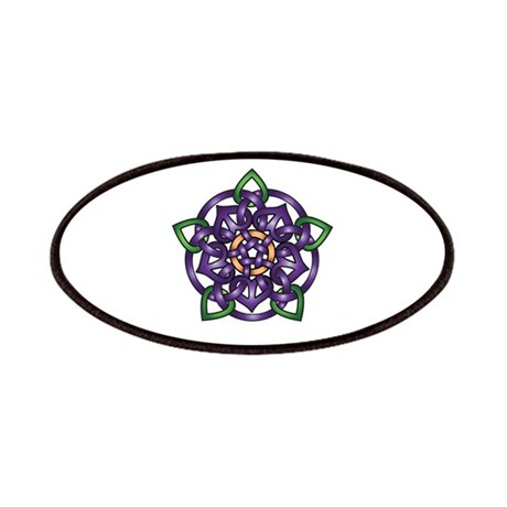 Purple Celtic Rose Patches