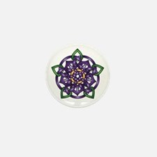 Purple Celtic Rose Mini Button