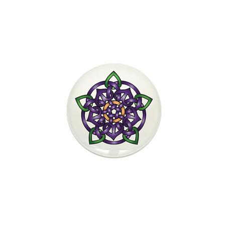 Purple Celtic Rose Mini Button (10 pack)
