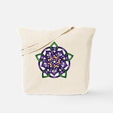 Purple Celtic Rose Tote Bag