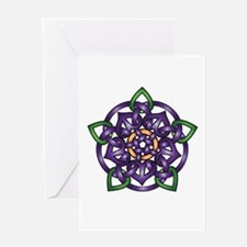 Purple Celtic Rose Greeting Card