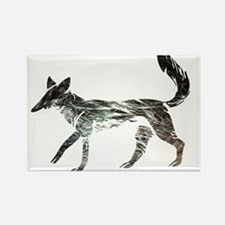 The Aging Silver Fox Rectangle Magnet