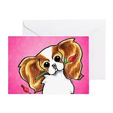 Blenheim CKCS Roses Greeting Card