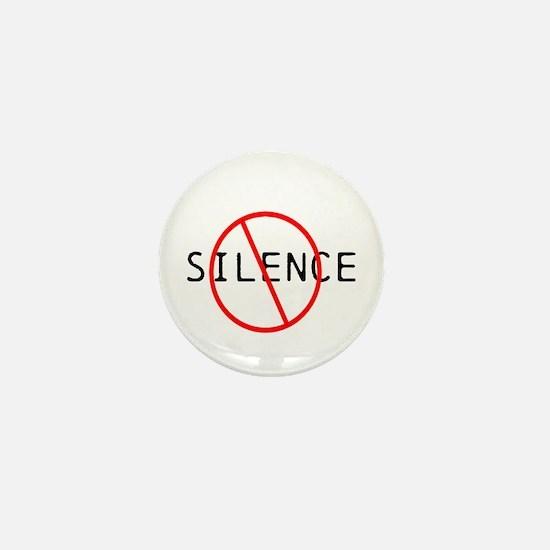 No Silence Mini Button