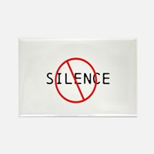 No Silence Rectangle Magnet (100 pack)