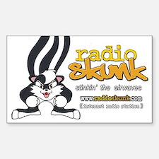 Radio SKUNK Rectangle Decal 10 pk) Decal
