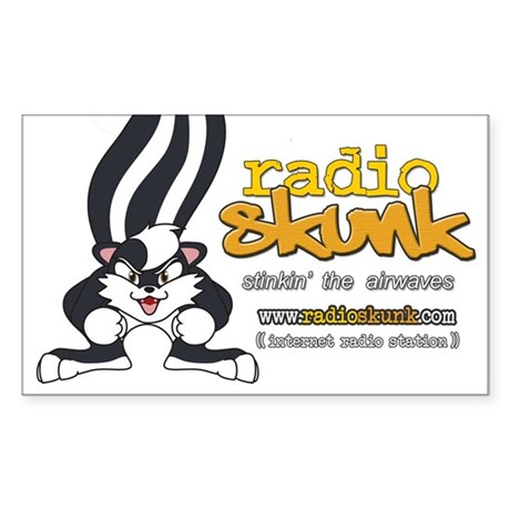 Radio SKUNK Rectangle Sticker 10 pk) Sticker