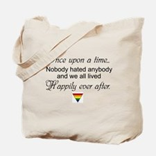 Happily ever after (w/ rainbow triangle) Tote Bag