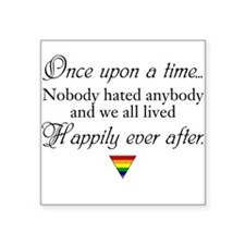 Happily ever after (w/ rainbow triangle) Sticker