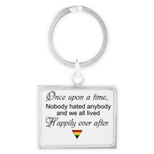 Happily ever after (w/ rainbow triangle) Keychains