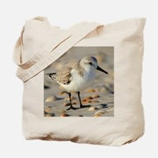 Sand Piper and Seashells Tote Bag