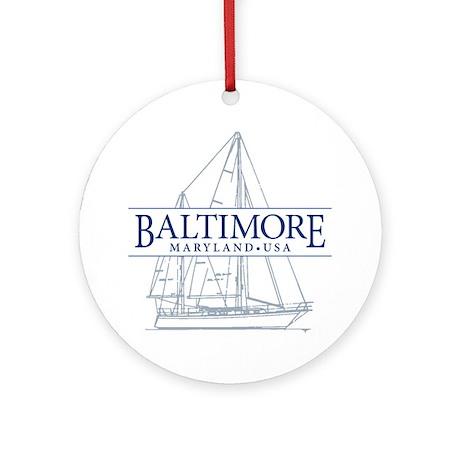 Baltimore Sailboat - Ornament (Round)