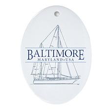 Baltimore Sailboat - Ornament (Oval)
