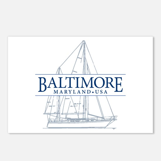 Baltimore Sailboat - Postcards (Package of 8)