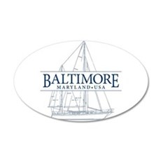 Baltimore Sailboat - Wall Decal