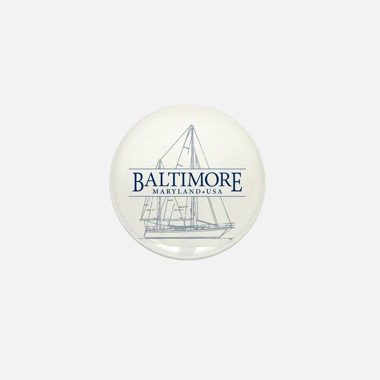 Baltimore Sailboat - Mini Button
