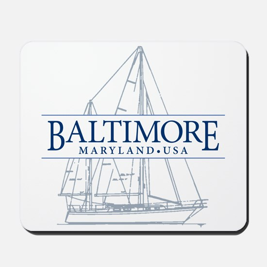 Baltimore Sailboat - Mousepad