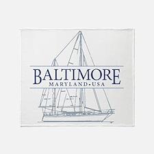 Baltimore Sailboat - Throw Blanket