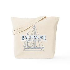 Baltimore Sailboat - Tote Bag