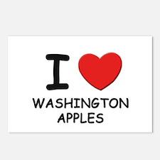 I love washington apples Postcards (Package of 8)