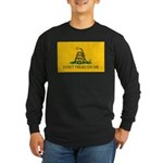 Don't Tread On Me Long Sleeve Black T-Shirt