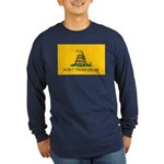 Don't Tread On Me Long Sleeve Blue T-Shirt
