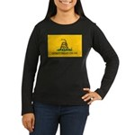 Don't Tread On Me Women's Long Sleeve Black Shirt