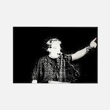 speaker black and white Rectangle Magnet