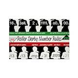 Roller derby magnets Magnets
