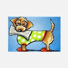 Wirehaired Dachshund News Rectangle Magnet