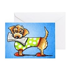 Wirehaired Dachshund News Greeting Card