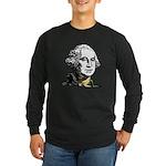George Washington Long Sleeve Black T-Shirt