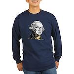 George Washington Long Sleeve Blue T-Shirt
