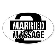 MARRIED 2 MASSAGE Decal