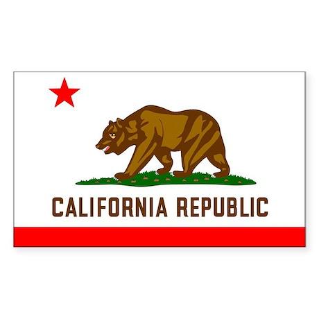 California Flag Rectangle Sticker