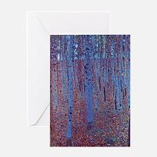 Beech Forest by Gustav Klimt Greeting Card