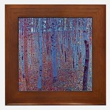 Beech Forest by Gustav Klimt Framed Tile